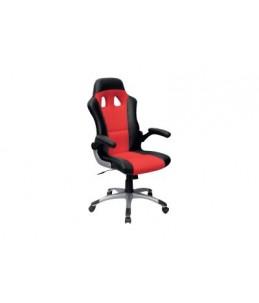 Fauteuil de gamer - RACER - accoudoirs relevables - noir et rouge
