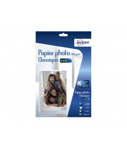Avery - 40 Feuilles de Papier Photo 180g/m² A4 - Impression Jet d'encre - Brillant