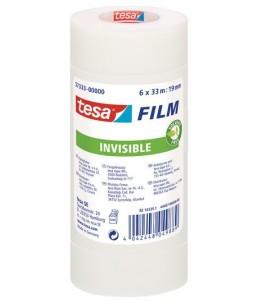 tesafilm - 6 rouleaux d'adhésif invisible - 19 mm x 33 m