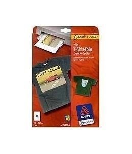 Avery - 4 Papiers Transferts T shirt Textile Noirs ou FoncEs - A4 - Jet d'encre