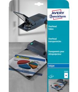 Avery - 15 Transparents pour retroprojecteur - A4 - Impression Jet d'encre