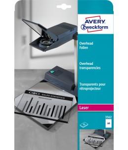 Avery - 25 Transparents pour retroprojecteur - A4 - Impression Laser
