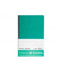 Exacompta - Recettes/dépenses - 80 pages - 320 x 195 mm