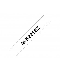 Brother MK221BZ - bande d'étiquettes - 1 Rouleau (0,9 cm x 8 m) - Noir Sur Blanc