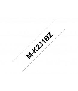 Brother MK231BZ - bande d'étiquettes - 1 Rouleau (1,2 cm x 8 m) - Noir Sur Blanc