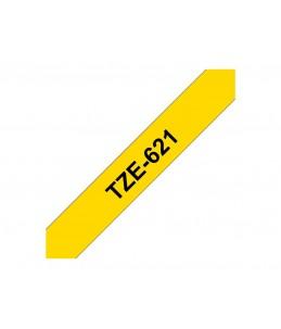 Brother TZe621 - Ruban laminé - noir sur jaune - 1 Rouleau (0,9 cm x 8 m)