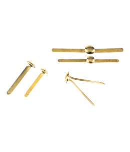 Exacompta - 40 Attaches parisiennes - 24 mm - or