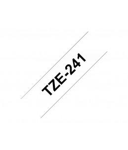 Brother TZe241 - Ruban laminé - noir sur blanc -1 rouleau (1,8 cm x 8 m)