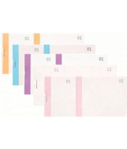 Exacompta - 10 blocs vendeurs numérotés - couleurs assorties - 60 x 135 mm