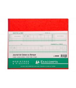 Exacompta - Journal de caisse ou banque - 19 colonnes - 27 x 32 cm - paysage