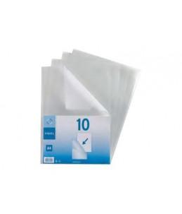 Viquel - 10 Pochettes coin - A4 - pour 25 feuilles - 13/100
