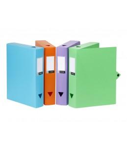 Viquel CLASS DOC - Boîte de classement - Dos 100 mm - 245 x 330 mm - couleurs assorties pastel