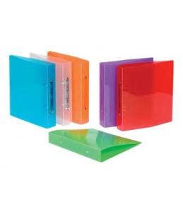 Viquel Propyglass - Classeur à anneaux - Dos 40 mm - 17 x 22 cm - couleurs assorties