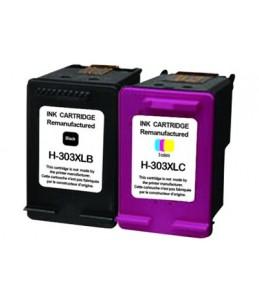UPrint H-303XLBK/CL - pack de 2 - Capacité XL - noir, jaune, cyan, magenta - remanufacturé - cartouche d'encre (alternative p