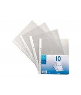 Viquel - 10 Pochettes perforées - 17x22 - 5/100