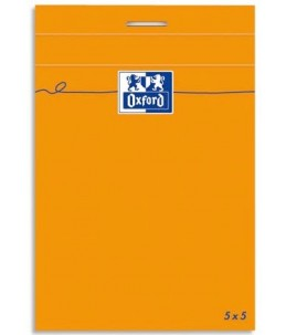 Oxford 3 Blocs Orange - 1 Bloc - A5 - 160 pages - petits carreaux