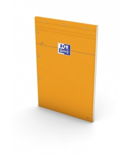 Oxford Bloc Orange A4+ - Bloc - 160 pages - Petits carreaux