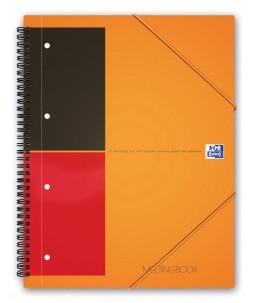 Oxford International Meetingbook A4+ - Cahier - 160 pages - papier blanc - règle - perforé