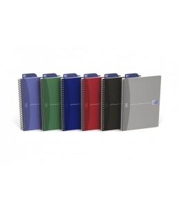 Oxford Office Essentials - Carnet à spirale - A5 - 90 feuilles - extra blanc - quadrillé - carton