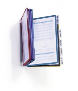 DURABLE VARIO - Système de panneau d'affichage - 10 pochettes - A4 - Couleurs assorties