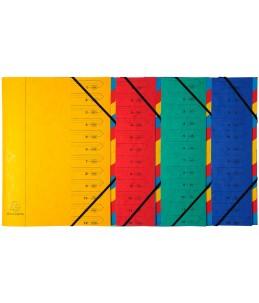 Exacompta Nature Future - Parapheur - 12 positions - A- Z, 1- 12 - couleurs assorties
