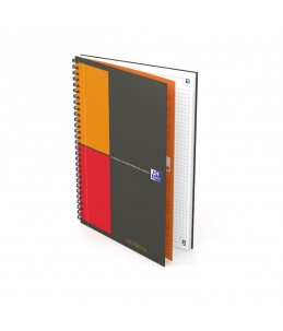 Oxford International NoteBook Connect - Cahier - B5 - 160 pages - blanc - petits carreaux - 2 trous