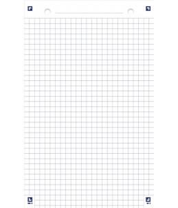 Oxford - Bloc de 30 fiches Bristol Scribzee - 125 x 200 mm - Perforées - Petits carreaux