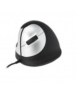 R-Go Tools souris HE Mouse - Souris ergonomique - gaucher - filaire - Noir, Argent