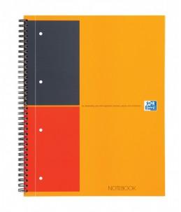 Oxford International A4+ - Cahier à spirale - 160 pages - ligné - perforé - couverture orange