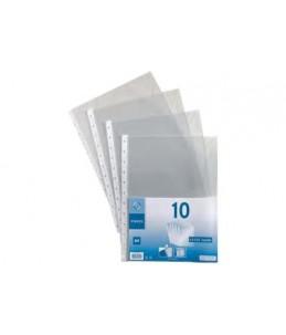 Viquel Geode - 10 Pochettes perforées - A4 - cristal