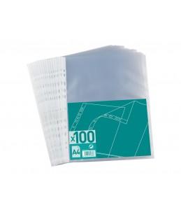 100 Pochettes perforées - A4 - pour 20 feuilles - 4/100