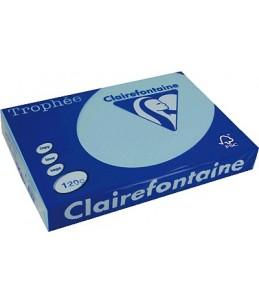Clairefontaine Trophée - Papier couleur - 120 g m² - A4 - 250 feuilles - Bleu alizé