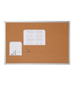 DAHLE - Tableau d'affichage en liège naturel 7 mm - cadre aluminium 60x90 cm