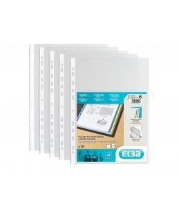 ELBA - 10 Pochettes perforées - A4 - pour 12 feuilles - 9/100 - Blanc