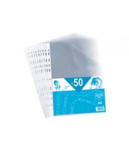 ELBA - 50 Pochettes perforées - A4 - pour 20 feuilles - 4/100
