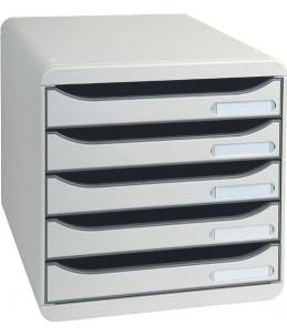 Exacompta BIG-BOX PLUS Classic - Bloc de classement 5 tiroirs - Gris