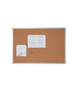 DAHLE - Tableau d'affichage en liège naturel 7 mm - cadre aluminium 90x120 cm