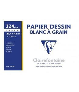 Clairefontaine Dessin à Grain - Papier à dessin - A3 - 10 feuilles - blanc