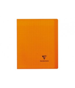 Clairefontaine Koverbook A5+ - Cahier - 17 x 22 cm - 96 pages - grands carreaux - transparent, disponible dans différentes co
