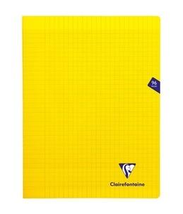 Clairefontaine MIMESYS - Cahier piqué -24 x32 cm - 96 pages - grands carreaux - jaune