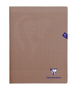 Clairefontaine MIMESYS - Cahier piqué - 24 x32 cm - 96 pages - grands carreaux - noir