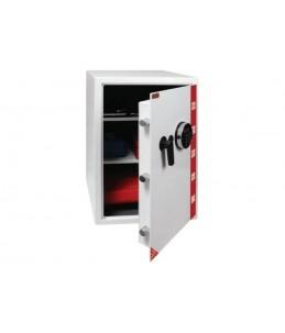 RESKAL SE 4 Premium - Coffre-fort à code - 2 étagères - acier - blanc