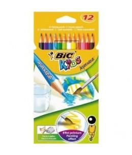 BIC KiDS AQUACOULEUR - 12 Crayons de couleur - couleurs assorties - 2.9 mm