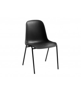 Chaise CHARLOTTE - structure métal noire - noir