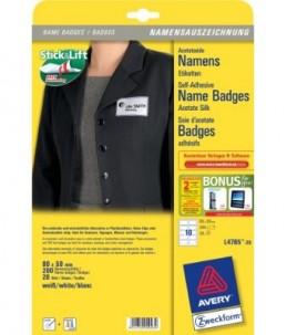 Avery - étiquettes pour badges - 200 étiquette(s) - 50 x 80 mm