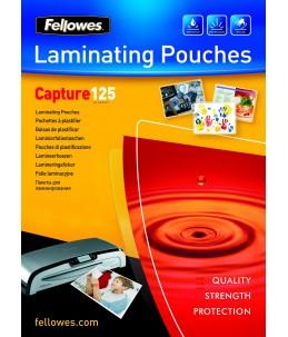 Fellowes Laminating Pouches Capture 125 micron - Pack de 100 - brillant - A4 (21 x 29,7 cm) pochettes plastifiées