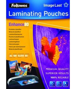 Fellowes - 100 pochettes de plastification - 80 microns - A4 (21 x 29,7 cm)