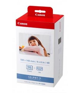 Canon KP-108IN - 3 - couleur (cyan, magenta, jaune) - cartouche imprimante kit papier
