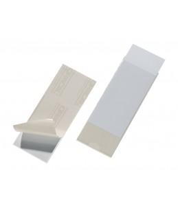 DURABLE POCKETFIX - 10 Porte-étiquettes adhésives - 60 x 150 mm - transparent
