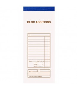 BLOC ADDITIONS - 10 CARNET - EXACOMPTA